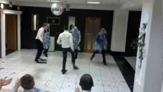 Танец в ластах, выкуп невесты на свадьбе Дениса и Марии