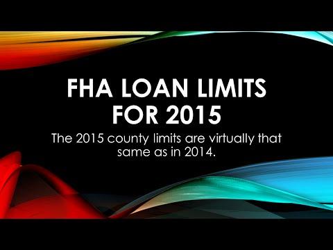 FHA Loan Limits for 2015 - California