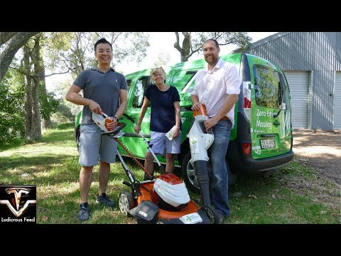 Electric Gardening Equipment | Lawn Mower Blower Edge Trimmer Hedger | Ludicrous Feed | Tesla Tom