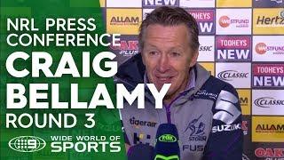 NRL Press Conference: Craig Bellamy - Round 3 | NRL on Nine