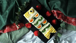 【レシピ動画】まだ間に合う!子供と一緒に作りたい「こいのぼりサンドイッチ」