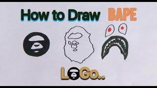 How to draw 3 Bape Logos in 5 Minutes easy step by step