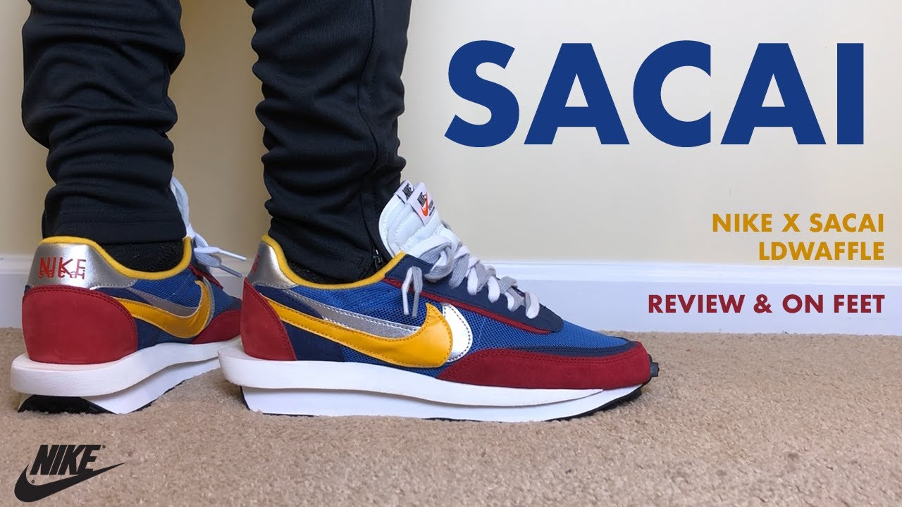 Giudizio Che cosa In qualche modo  Nike Sacai LD Waffle Blue Multi Review and On Feet - YouTube