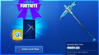 How To Get FROZEN AXE PICKAXE and CHALLENGE GUIDE in 14 Days Of Fortnite!