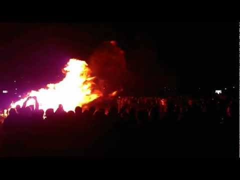 University of Maryland post-Duke victory bonfire and celebration