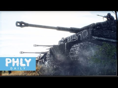 MASSIVE WIDE OPEN TANK BATTLE | PanzerStorm NEW Map (Battlefield 5 Tiger Tank Gameplay) thumbnail