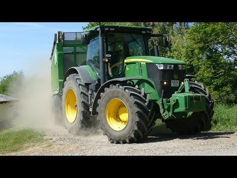John Deere 6215R, 6250R, 7290R & 8600i Working Hard During The Grass Season | DK Agriculture