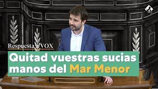 Javier Sánchez Serna responde a las barbaridades de VOX para el Mar Menor
