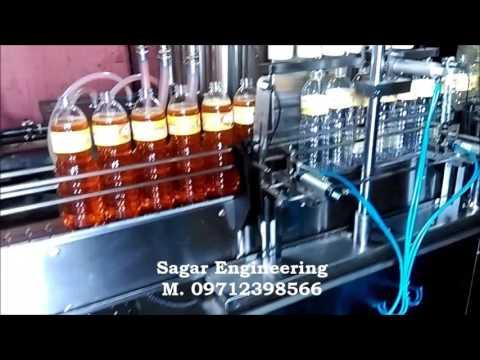 Automatic edible, mustard oil filling machine
