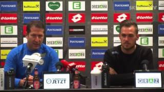 SK Sturm: Mediabriefing vor SKN St. Pölten (23. Runde 2016/17)
