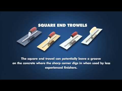 Square End Trowel vs Round End Trowel