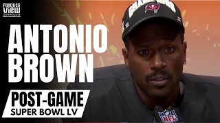 Antonio Brown Gets Emotional Speaking About Tom Brady & Winning Super Bowl LV | Post-Game