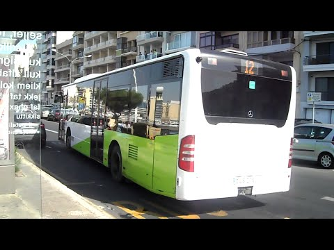38: Service 12 bus trip from Buġibba to Sliema, Part 3 - 26th August 2015 (09:47)
