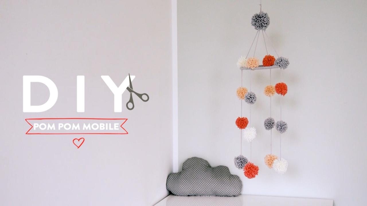 pom pom mobile | westwing diy-tipps - youtube