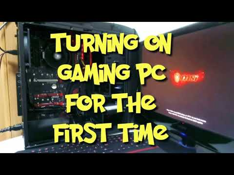 HOW TO BUILD A BEST BUDGET GAMING PC PART3 TURNING ON FOR FIRST TIME AND BIOS  DOWNLOAD, UPDATE
