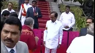 CM KCR Swearing Ceremony At Raj Bhavan 2018 LIVE  Pramana Sweekaram  Highlights 4