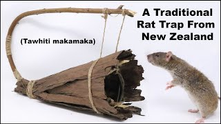 How To Make A Traditional Rat Trap From New Zealand - Flintknapping - Mousetrap Monday
