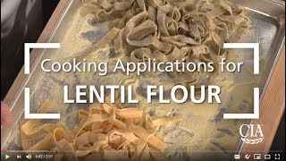 Cooking Applications for Lentil Flour: Making Lentil Pasta with a Puttanesca Sauce