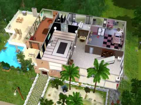 joli maison sur sims 3 youtube. Black Bedroom Furniture Sets. Home Design Ideas