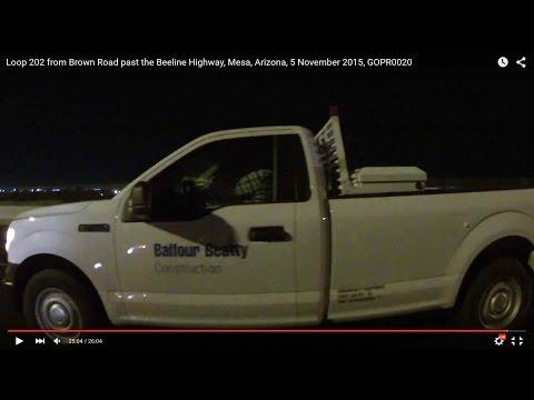 24:56 Balfour Beatty Construction F250, Loop 202, Brown past Beeline, Mesa, AZ, 5 Nov 15, GOPR0020