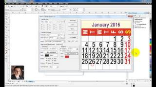 Learn CorelDraw in HINDI -18- Calendar Date and Month tutorial