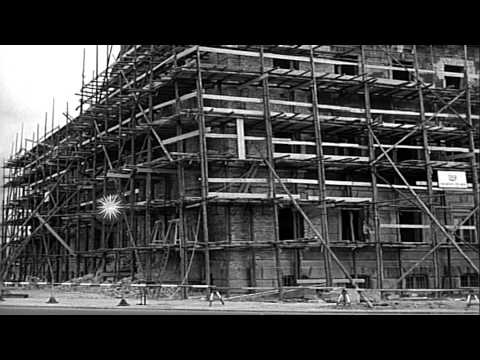Scenes during the rebuilding of West Berlin in 1952 HD Stock Footage