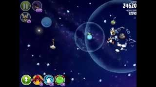 Angry Birds Space - Solar System. Level 10-13 Pluto. 3 stars