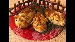 """Новогоднее мясо """"Свинки на отдыхе!"""" Объедение!!!Восторг гостей обеспечен!!!"""