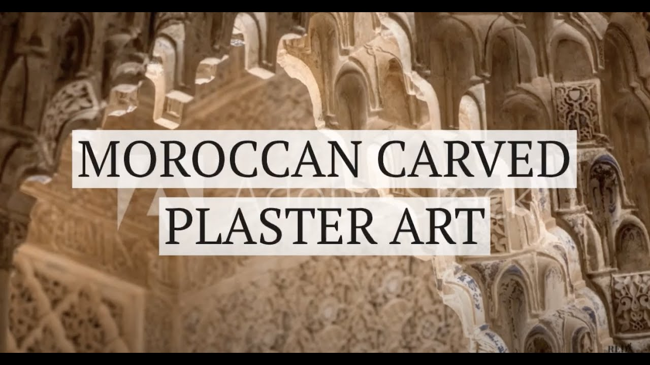 Moroccan Carved Plaster Art