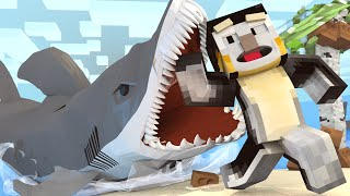 Jaws Movie 2 - Shark Attack Leaves us Stranded! (Minecraft Roleplay) #4