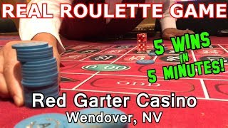 Live Roulette Game #8 - 5 WINS/5 MINUTES - Red Garter Casino, Wendover, NV - Inside the Casino