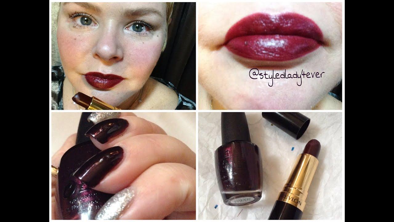 Black Cherry Lips & Nails Tutorial - YouTube