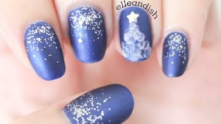 Water Bubble Christmas Tree Nails + GIVEAWAY #4