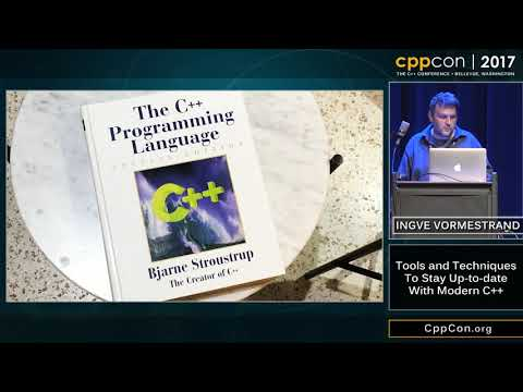"""CppCon 2017: Ingve Vormestrand """"Tools and Techniques To Stay Up-to-date With Modern C++"""""""