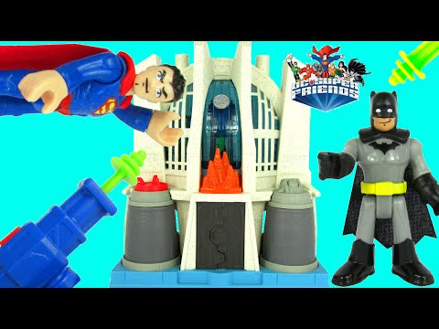 IMAGINEXT Batman vs Superman Hall Of Justice DC Super Friends Playset Toy Unboxing Video