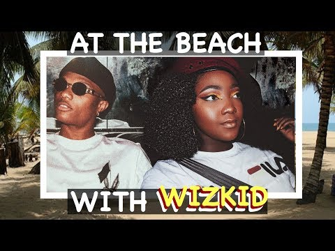 ONE NIGHT AT THE BEACH WITH WIZKID| LAGOS, NIGERIA | UWANIVLOGS 9