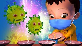 Happy Diwali  2020 Telugu Song | Telugu Rhymes for Children | Infobells