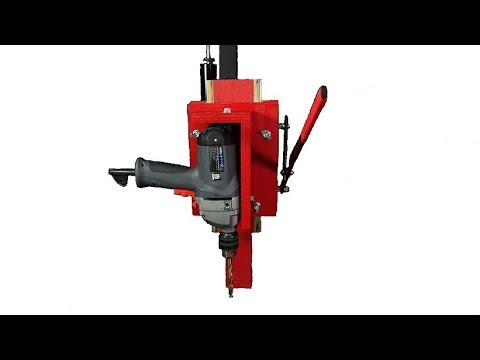 Homemade Drill Press. Benchtop drill press. How to Make. DIY