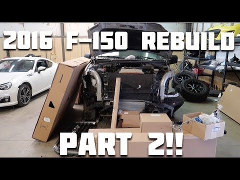 Rebuilding a Wrecked 2016 Ford F150 Part 2