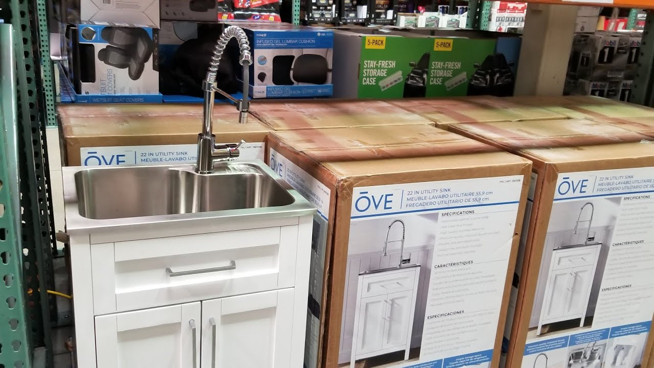 Costco Ove Decors 22 Utility Sink W, Utility Sink With Cabinet Costco