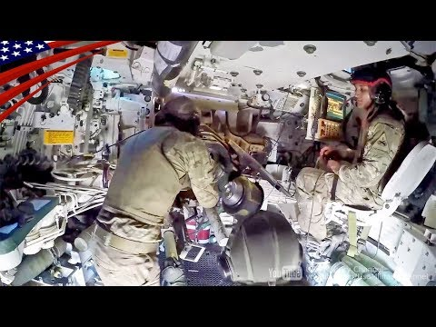 US 155mm Self-Propelled Howitzer Inside View - M109A6 Paladin