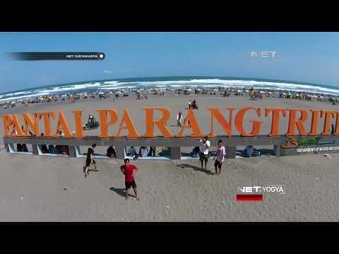 NET YOGYA - Ribuan Pengunjung Padati Pantai Parangtritis