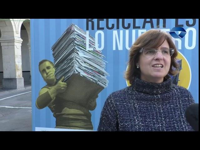 Birziklapenean jaioak gara kanpainan izan da Maria Uribe Ingurumen zinegotzia