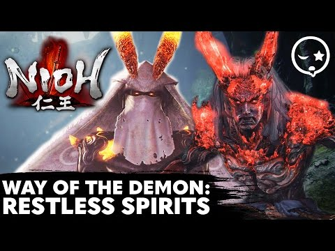 Nioh - Way of the Demon - Restless Spirits (Double Boss Fight) [1080p HD]