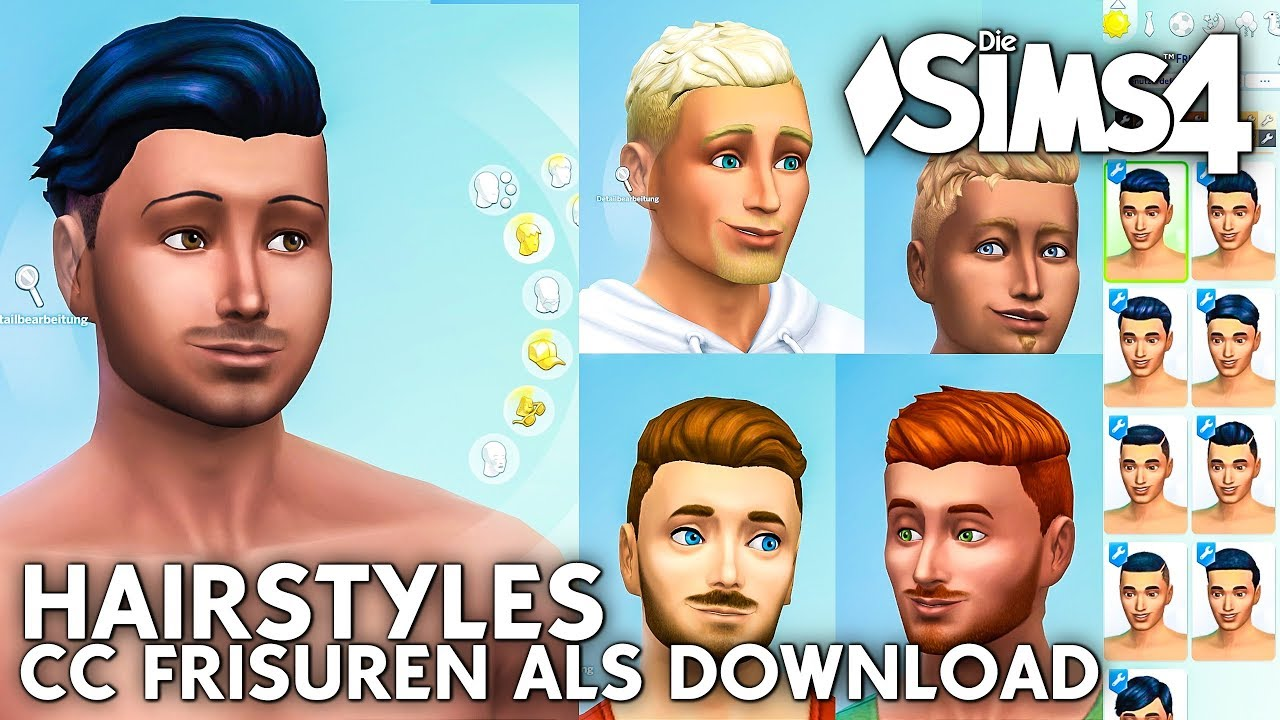 Manner Frisuren Als Download Die Sims 4 Cc Haare Barte
