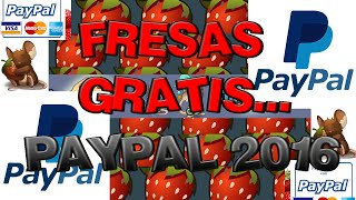 COMO COMPRAR FRESAS GRATIS CON PAYPAL (TRANSFORMICE) 2016