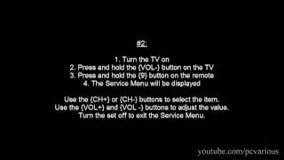 How to Access Service Menu in Toshiba TV
