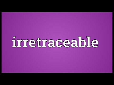 Header of irretraceable