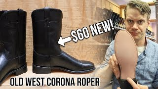 Reviewing Cheap Cowboy Boots! 💵Old West Corona Ropers