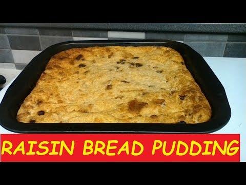 How To Make RAISIN BREAD PUDDING RECIPE  |Raisin Bread Pudding Recipe